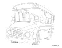 Images à colorier-Moyens de transport