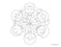 Images à colorier-Multiculturalisme