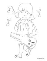 Images à colorier-Musique