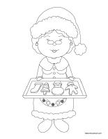 Images a colorier-Noel-La cuisine