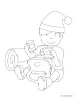 Images à colorier-Noël des campeurs