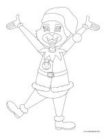 Images à colorier-Noël-heureux ou grincheux