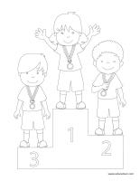 Images à colorier-Olympiades d'été