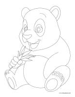 Images à colorier-Pandas