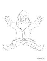 Images à colorier-Pères Noël