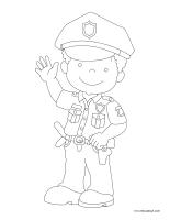 Images à colorier-Policiers-Policières
