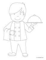 Images à colorier-Restaurant