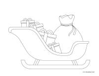 Images à colorier-Royaume du père Noël