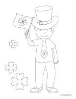 Images à colorier-Saint-Patrick