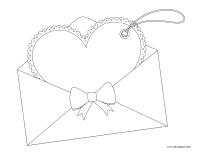 Images à colorier-Saint-Valentin-Lettres d'amour