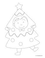 Images à colorier-Sapin de Noël