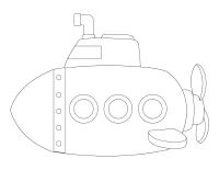 Images à colorier-Sous-marins