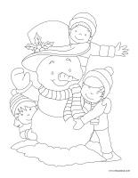 Images à colorier-Vacances de Noel