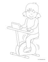 Images à colorier-Vélos et tricycles