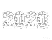 Images à colorier-bonne année 2020