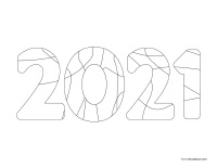 Images à colorier-bonne année 2021