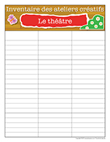 Inventaire-Ateliers créatifs-Le théâtre