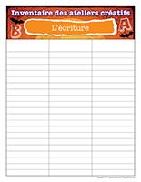 Inventaire-Halloween-Ateliers créatifs–L'écriture