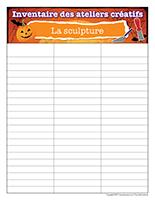 Inventaire-Halloween-Ateliers créatifs–La-sculpture