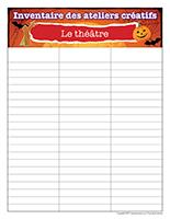 Inventaire-Halloween-Ateliers créatifs–Le théâtre
