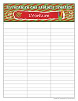 Inventaire-Noël-Ateliers créatifs-L'écriture