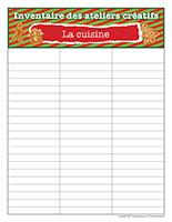 Inventaire-Noël-Ateliers créatifs-La cuisine