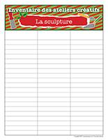 Inventaire-Noël-Ateliers créatifs-La sculpture