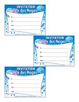 Invitations-Fête des Neiges