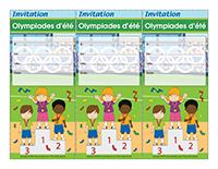 Invitations-Olympiades d'été