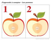 J'apprend a compter-les pommes