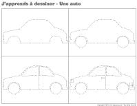 J'apprend à dessiner-Une auto