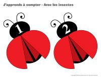 J'apprends à compter-Avec les insectes