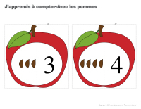 J'apprends à compter-Avec les pommes