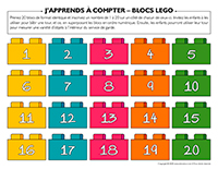 J'apprends à compter-Blocs Lego