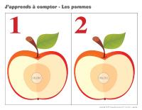 J'apprends à compter-Les pommes