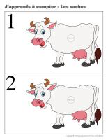 J'apprends à compter-Les vaches