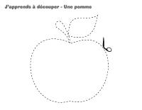 J'apprends à découper-Une pomme