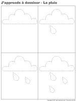 J'apprends à dessiner - La pluie