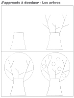 J'apprends à dessiner - Un arbre