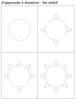 J'apprends à dessiner - Un soleil