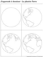 J'apprends à dessiner-La planète Terre