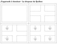 J'apprends à dessiner-Le drapeau du Québec