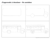J'apprends à dessiner-Un autobus