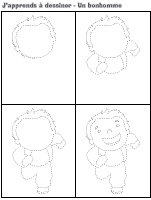 J'apprends à dessiner-Un bonhomme