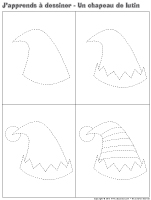 J'apprends à dessiner-Un chapeau de lutin