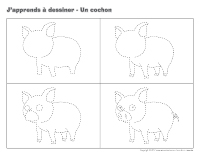 J'apprends à dessiner-Un cochon