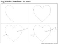 J'apprends à dessiner-Un coeur
