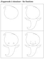 J'apprends à dessiner-Un fantôme