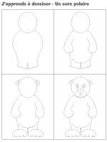 J'apprends à dessiner-Un ours polaire