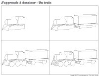 J'apprends à dessiner-Un train